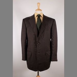 Ermenegildo Zegna 44R Brown Sport Coat B596